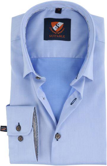 Suitable Shirt Button Under Blue
