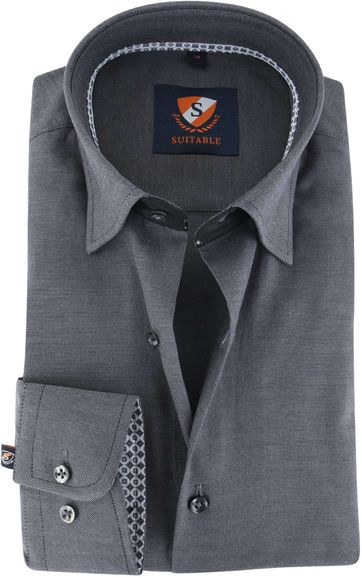 Suitable Shirt Dark Grey 141-7