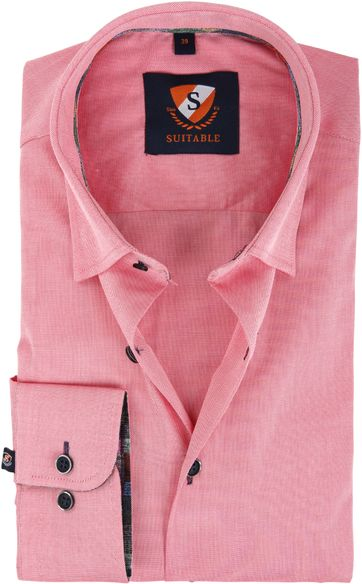 Suitable Shirt Dark Pink 183-4