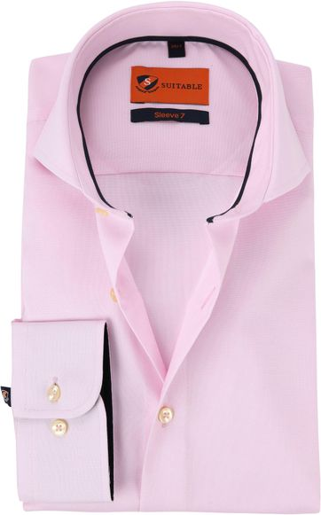 Suitable Shirt Extra Long Sleeve Pink