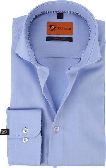 Suitable Shirt Extra Long Sleeve Twill Blue
