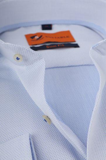 Suitable Shirt Faux Check Blue