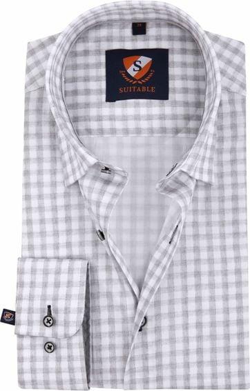 Suitable Shirt Grey Check