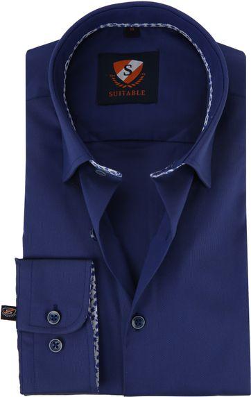 Suitable Shirt HBD Leaf Royal Navy