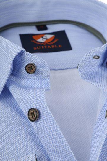 Suitable Shirt HBD Print Blue