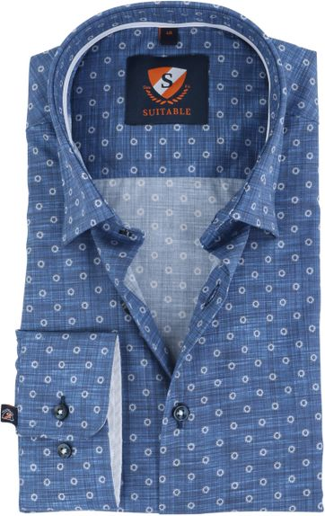 Suitable Shirt Indigo Print HBD