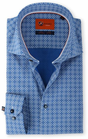 Suitable Shirt Kobalt Print 61-08