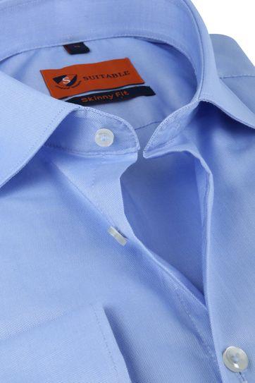 Suitable Shirt Light Blue Skinny Fit