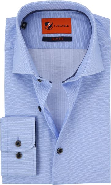 Suitable Shirt Light Blue Waut