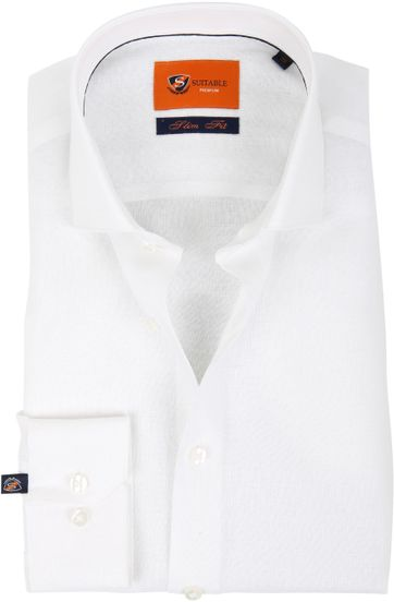 Suitable Shirt Linen White D81-13