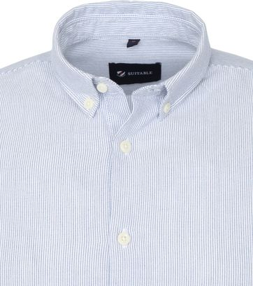 Suitable Shirt Max Stripes Navy