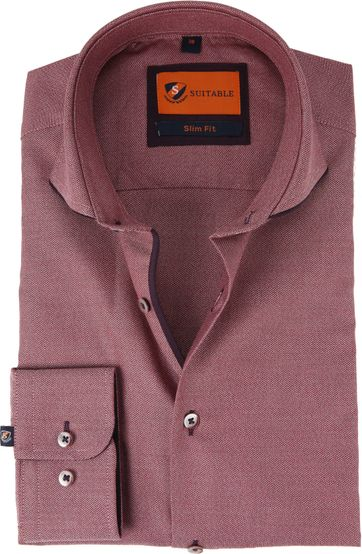 Suitable Shirt Mouline Bordeaux