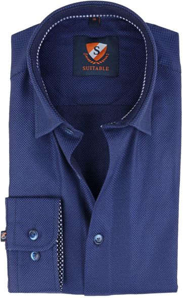 Suitable Shirt Navy Oxford
