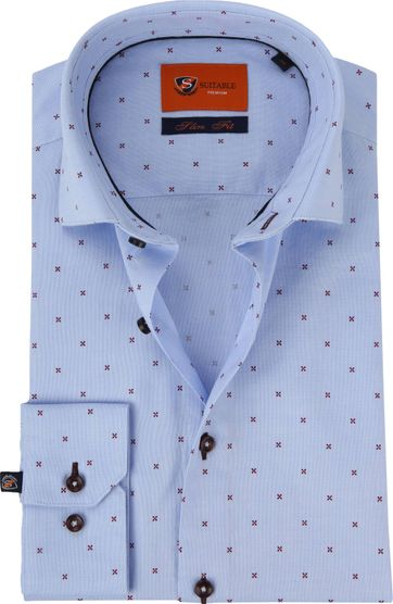 Suitable Shirt Oxford Cross Red