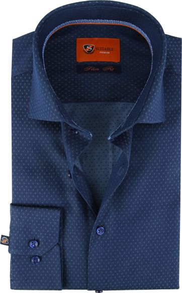 Suitable Shirt SF Dessin Navy