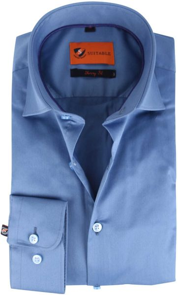 Suitable Shirt Skinny Fit Blue