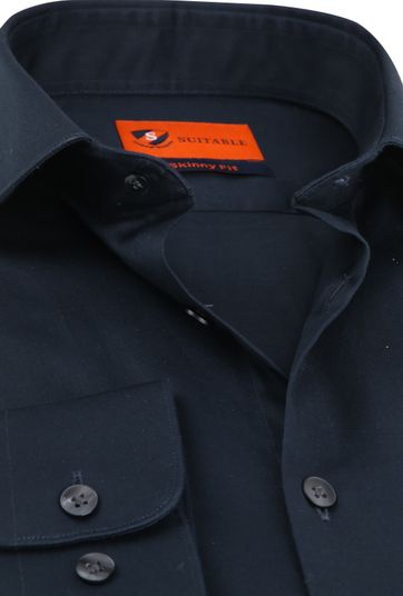 Suitable Shirt Skinny-Fit Navy