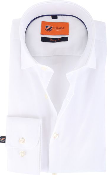 Suitable Shirt Skinny Fit White 132-2