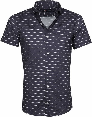 Suitable Shirt SS Airplane Navy