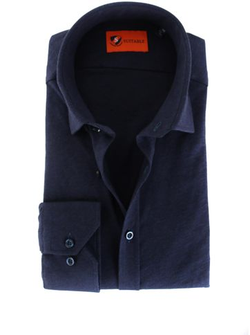 Suitable Shirt Stretch Navy