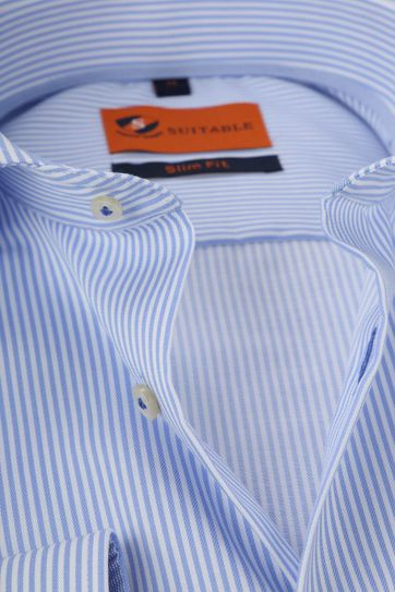 Suitable Shirt Stripes Blue