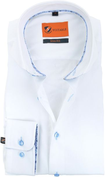 Suitable Shirt White CAW 174-1