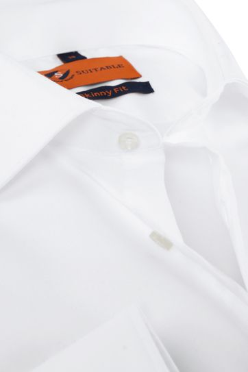 Suitable Shirt White Skinny Fit