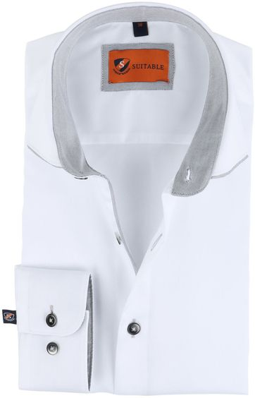 Suitable Shirt White Twill 168-2