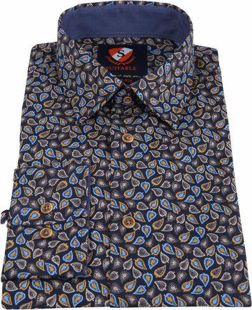 Suitable Shirt Willem Leafs Caramel