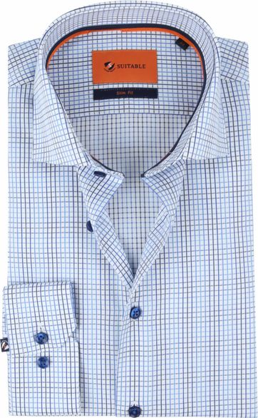 Suitable Shirt WS Checks Blue