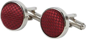 Suitable Silk Cufflinks Bordeaux