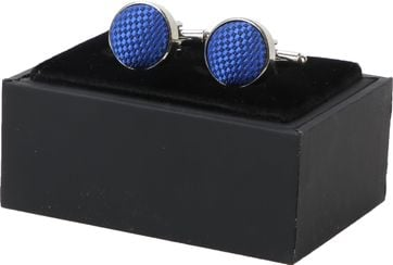 Suitable Silk Cufflinks Cobalt