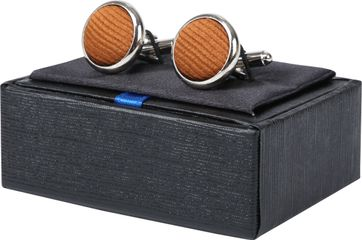 Suitable Silk Cufflinks Cognac