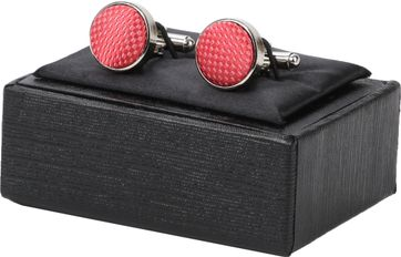Suitable Silk Cufflinks Coral
