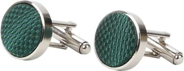 Suitable Silk Cufflinks Green