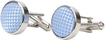 Suitable Silk Cufflinks Light Blue