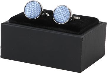 Suitable Silk Cufflinks Light Blue