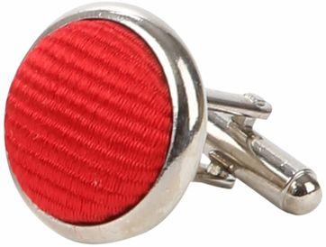 Suitable Silk Cufflinks Mid Red