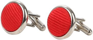 Suitable Silk Cufflinks Mid Red
