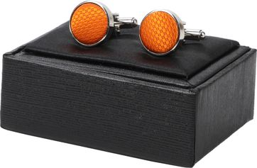 Suitable Silk Cufflinks Orange