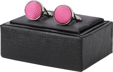 Suitable Silk Cufflinks Pink