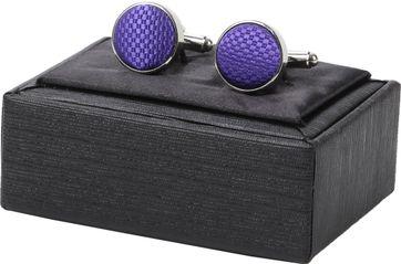 Suitable Silk Cufflinks Purple
