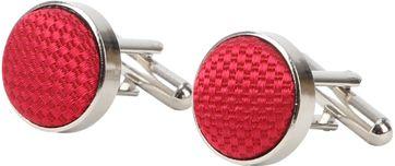 Suitable Silk Cufflinks Red 07