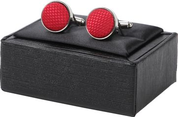 Suitable Silk Cufflinks Red 07