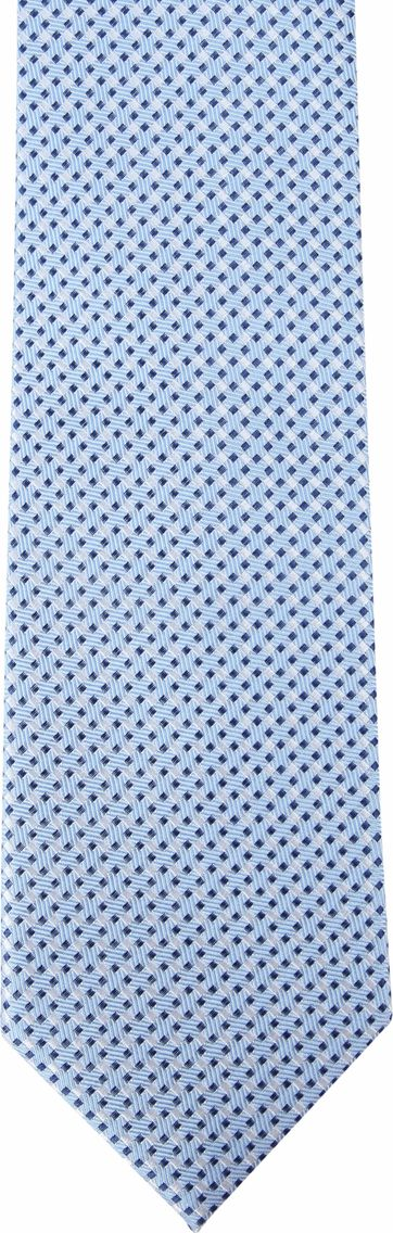Suitable Silk Tie Side Checks Blue F91-5