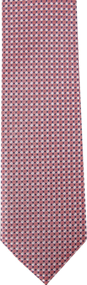 Suitable Silk Tie Side Checks Red F91-5