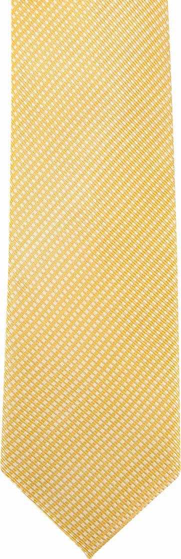 Suitable Silk Tie Side Checks Yellow F91-22