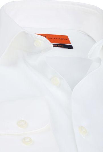Suitable Skinny-Fit Hemd Weiß