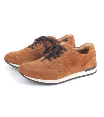Suitable Sneaker Cognac Suede