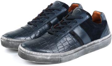 Suitable Sneaker Croco dark blue